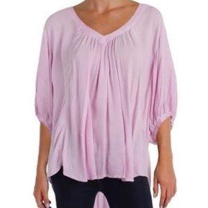FP lavender v neck 3/4 sleeve boho tunic top XS